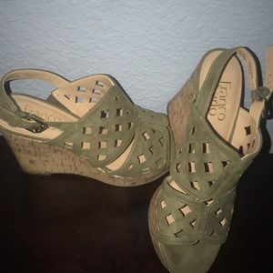 Franco Sarto Shoes - Franco Sarto green cork wedges 7 1/2 US NWOTB